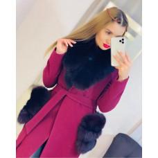 Пальто с натуральным мехом